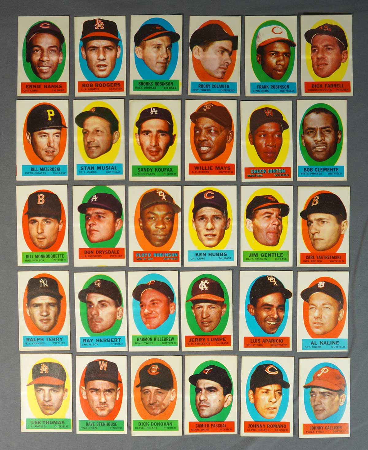 1963 Topps Baseball Peel-off Stickers