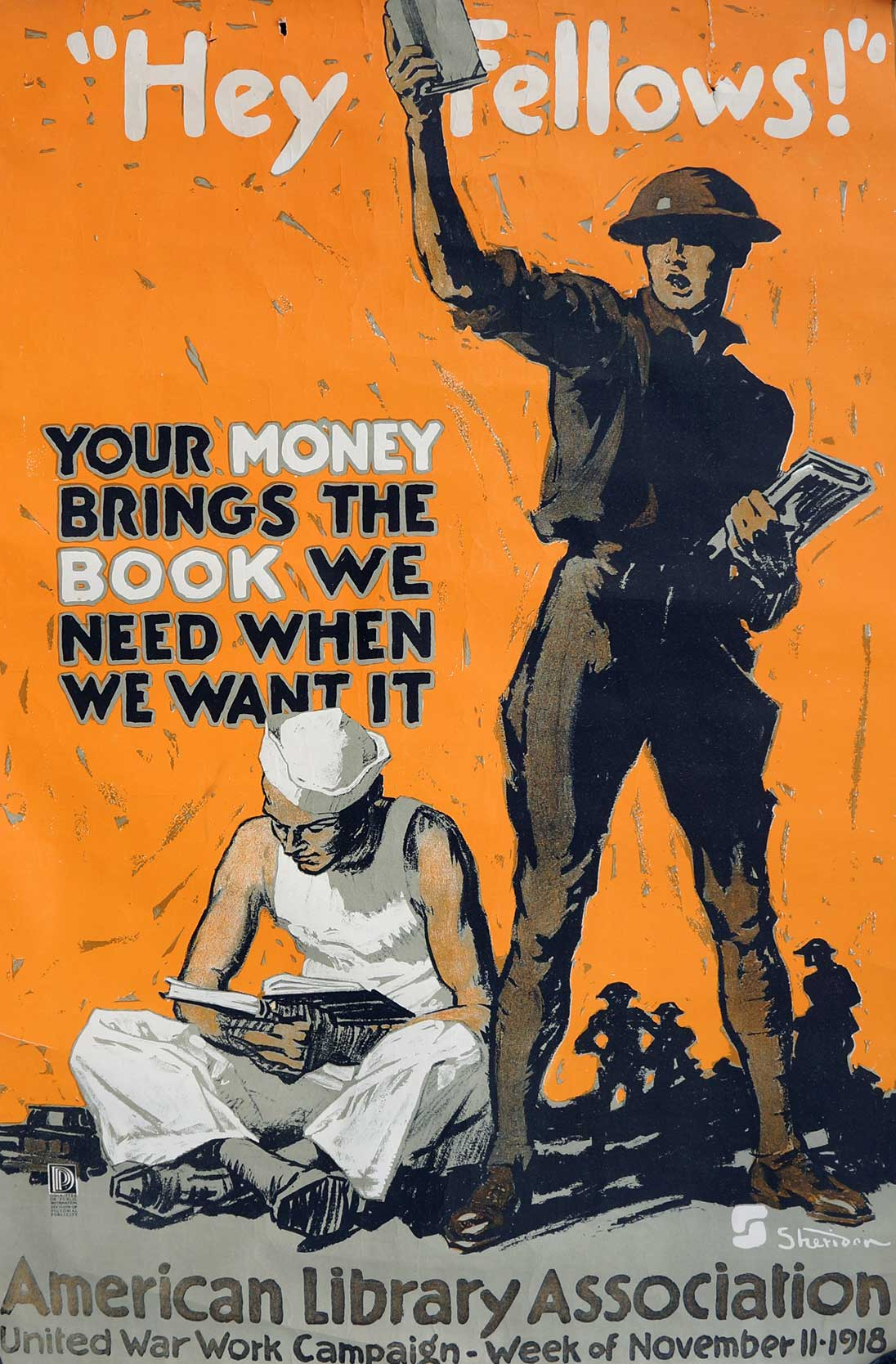 Original WWI American Library Association Poster