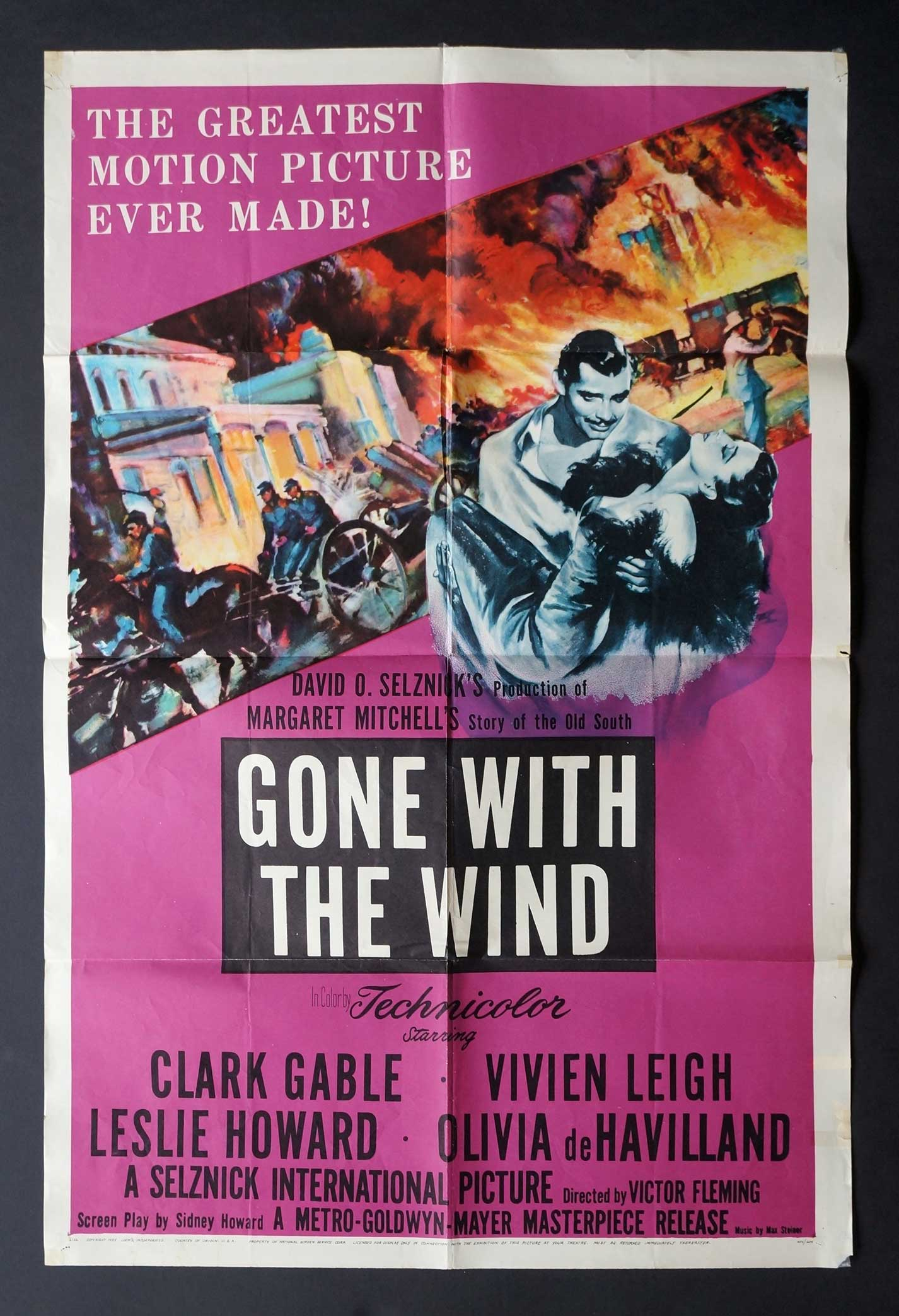 Gone With The Wind 1954 Movie Poster
