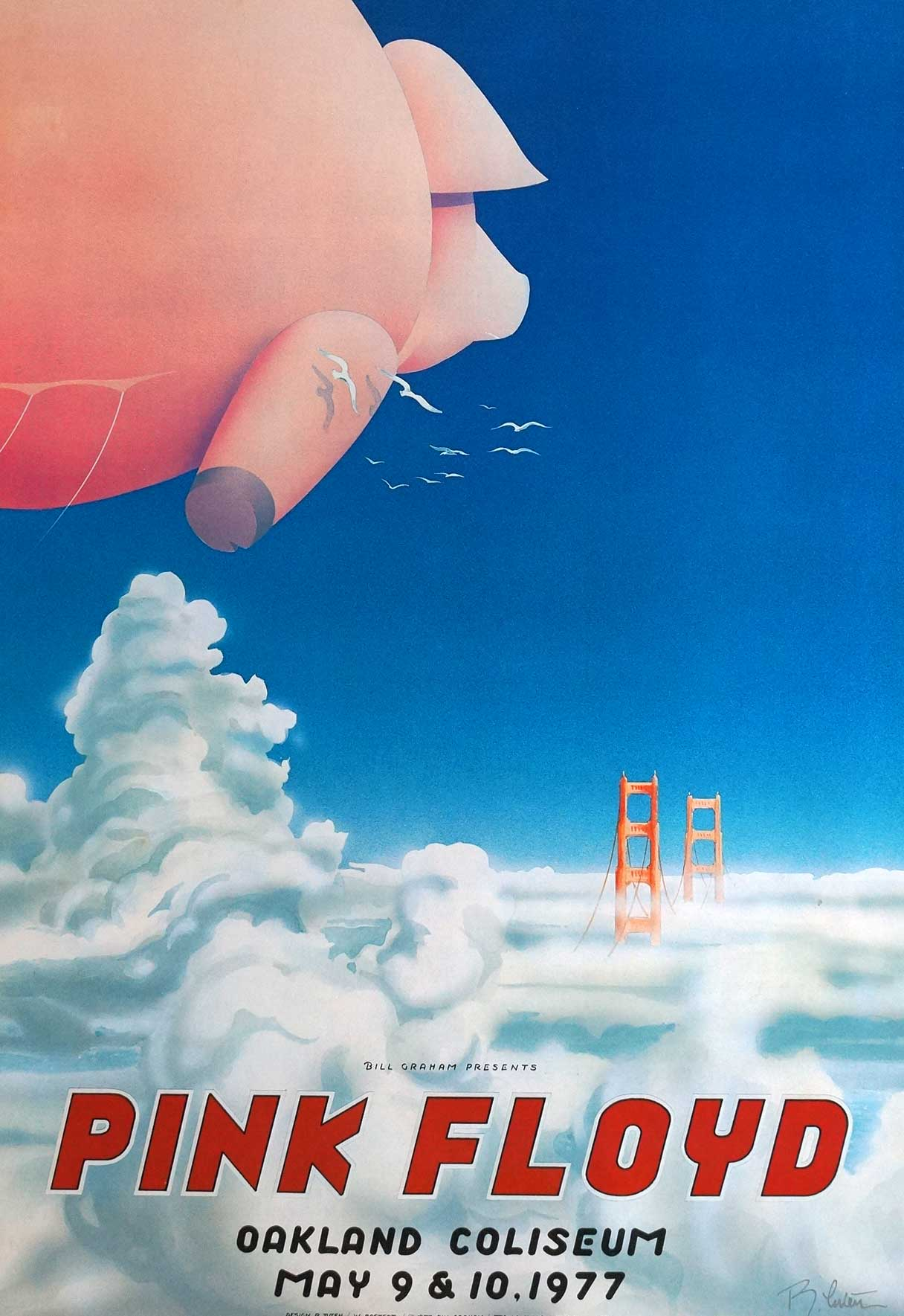 Pink Floyd at The Oakland Coliseum Movie Poster, 1977