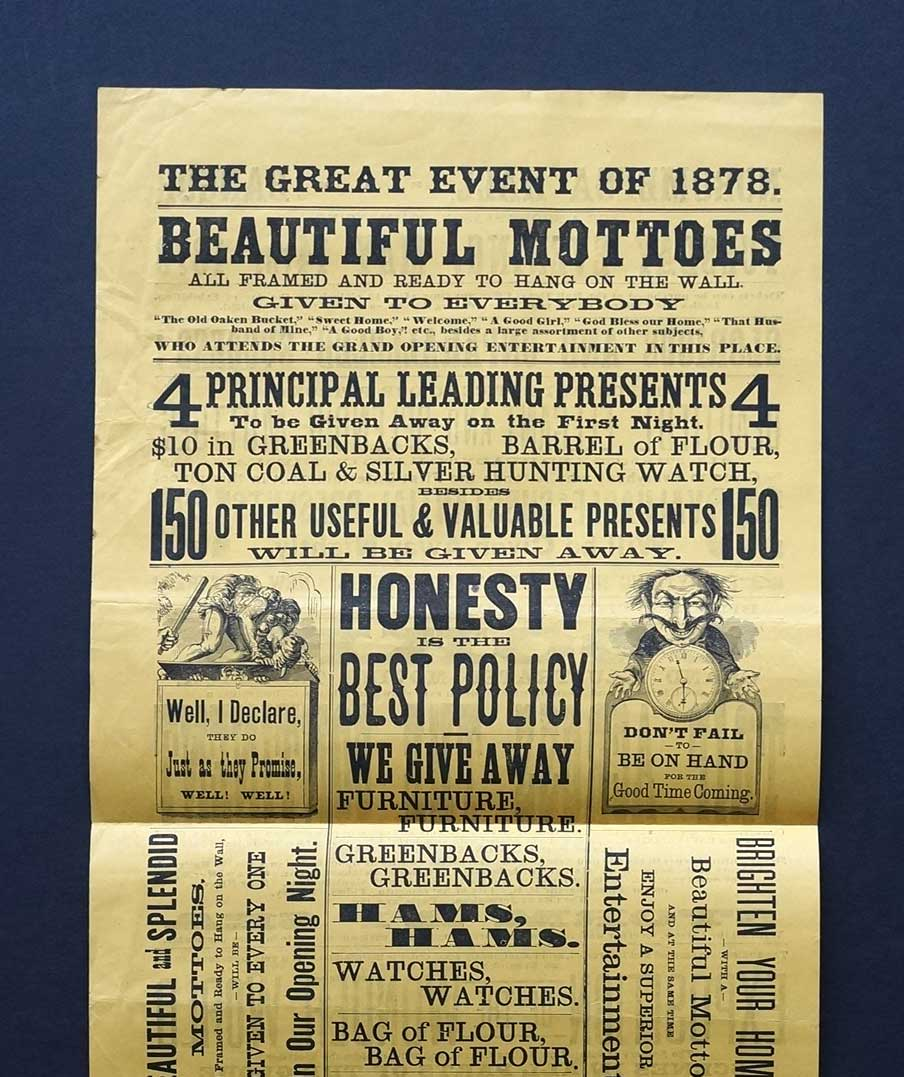 19th Century Theatrical Broadside (The Great Event of 1878).