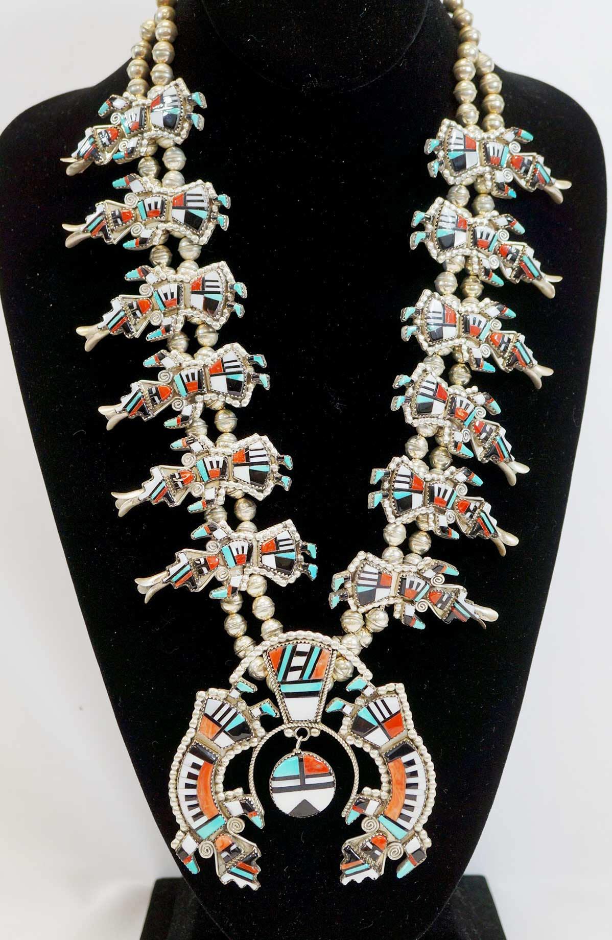 Herbert & Esther Cellicion Signed Zuni Necklace