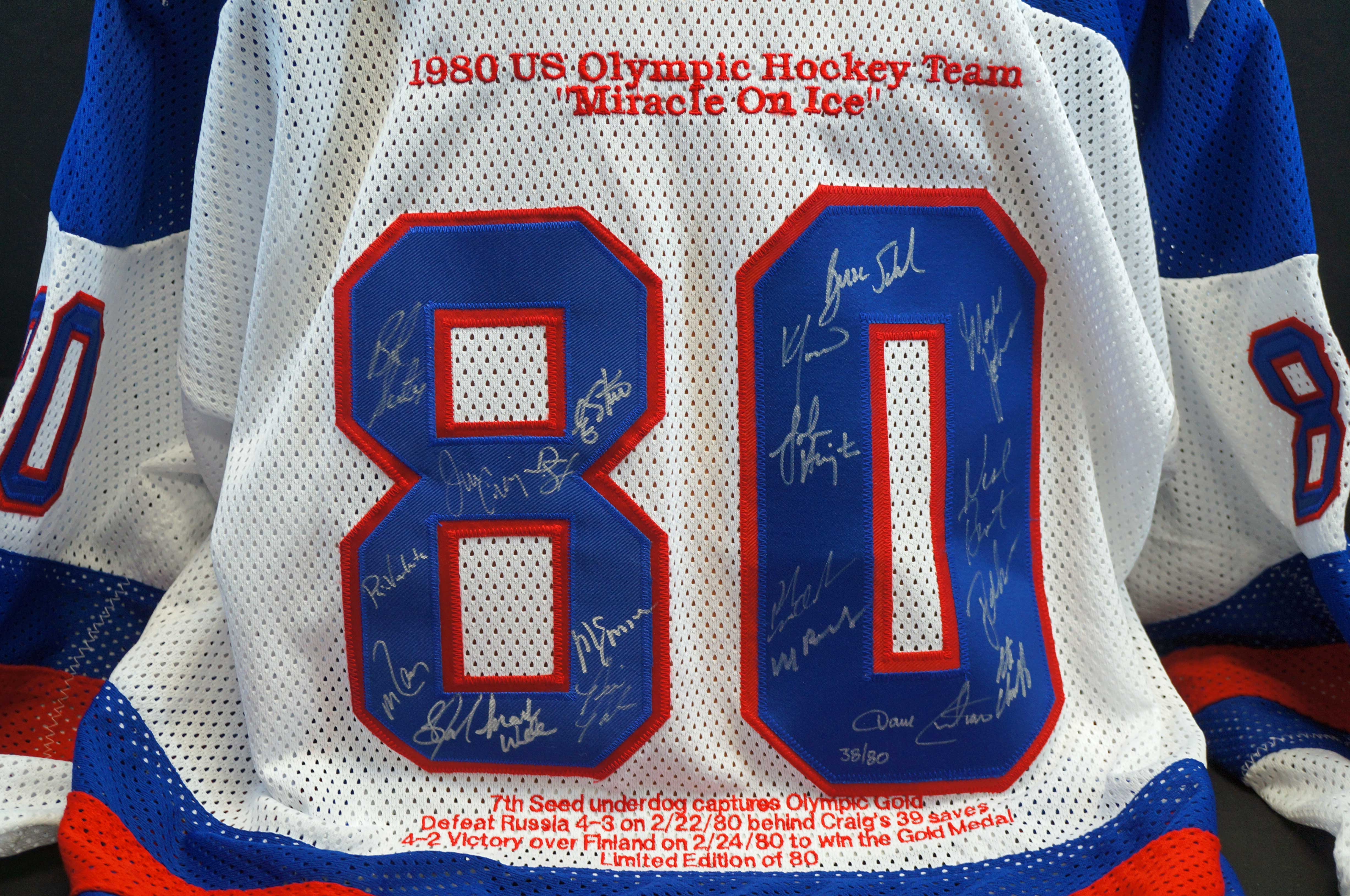 Lot 328 Team USA Hockey Autographed 1980 Gold Medal Team