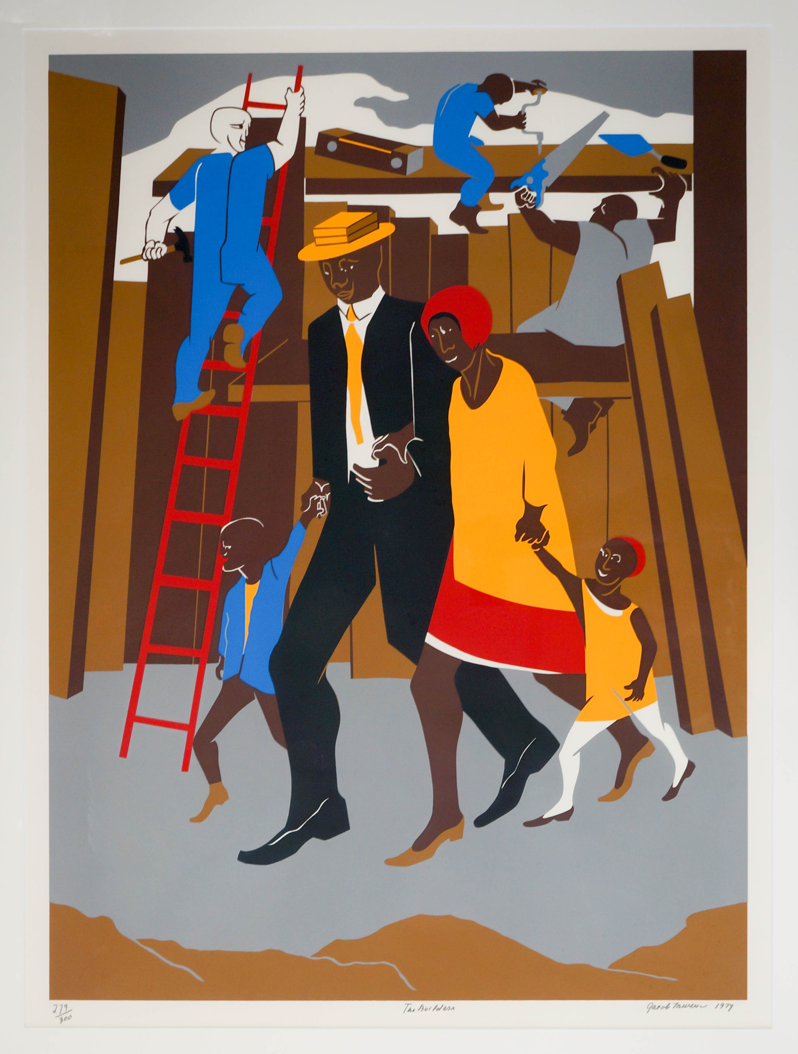 Jacob Lawrence, The Builders, The Family