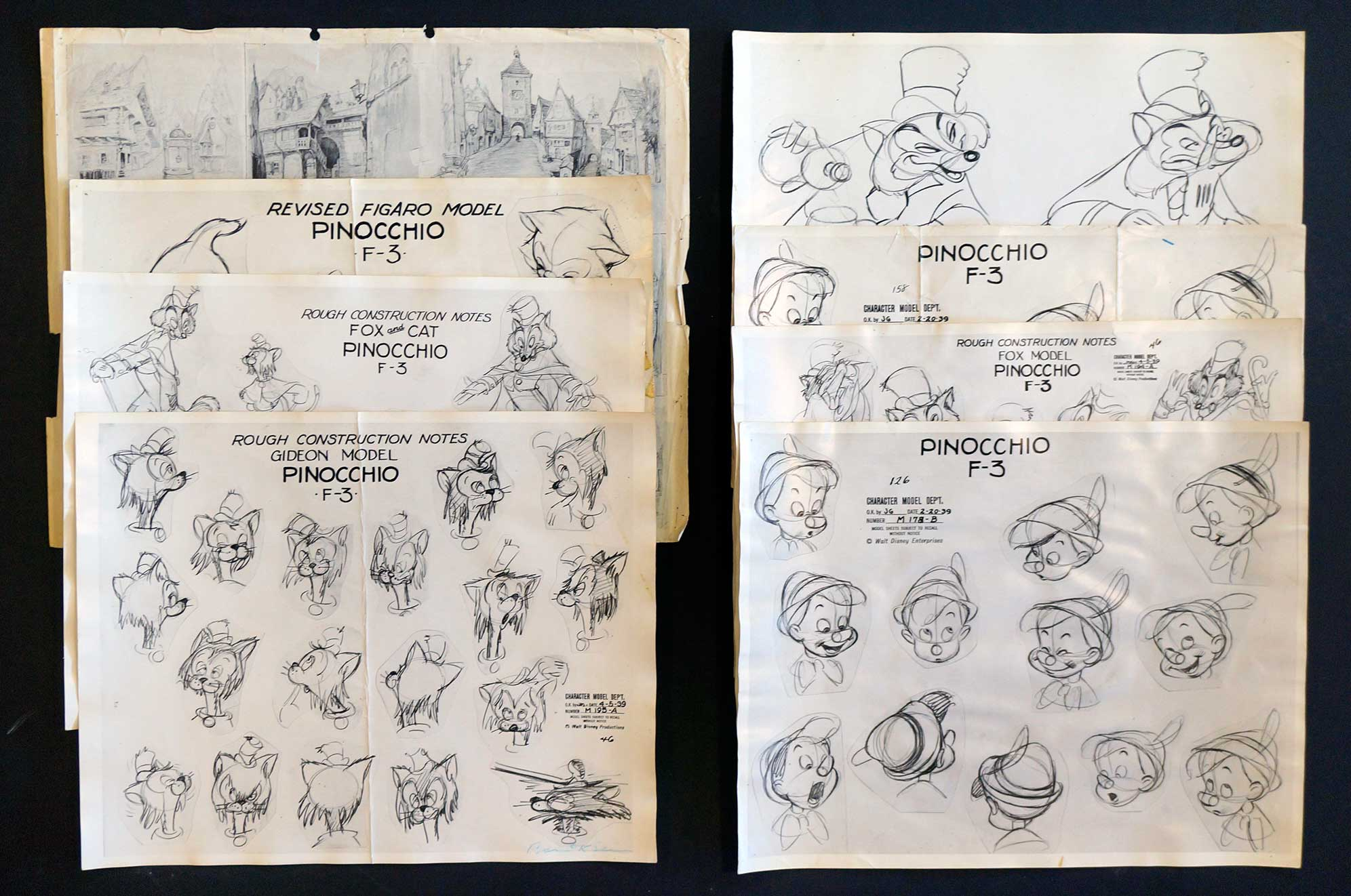 Disney Model Sheets from Pinocchio