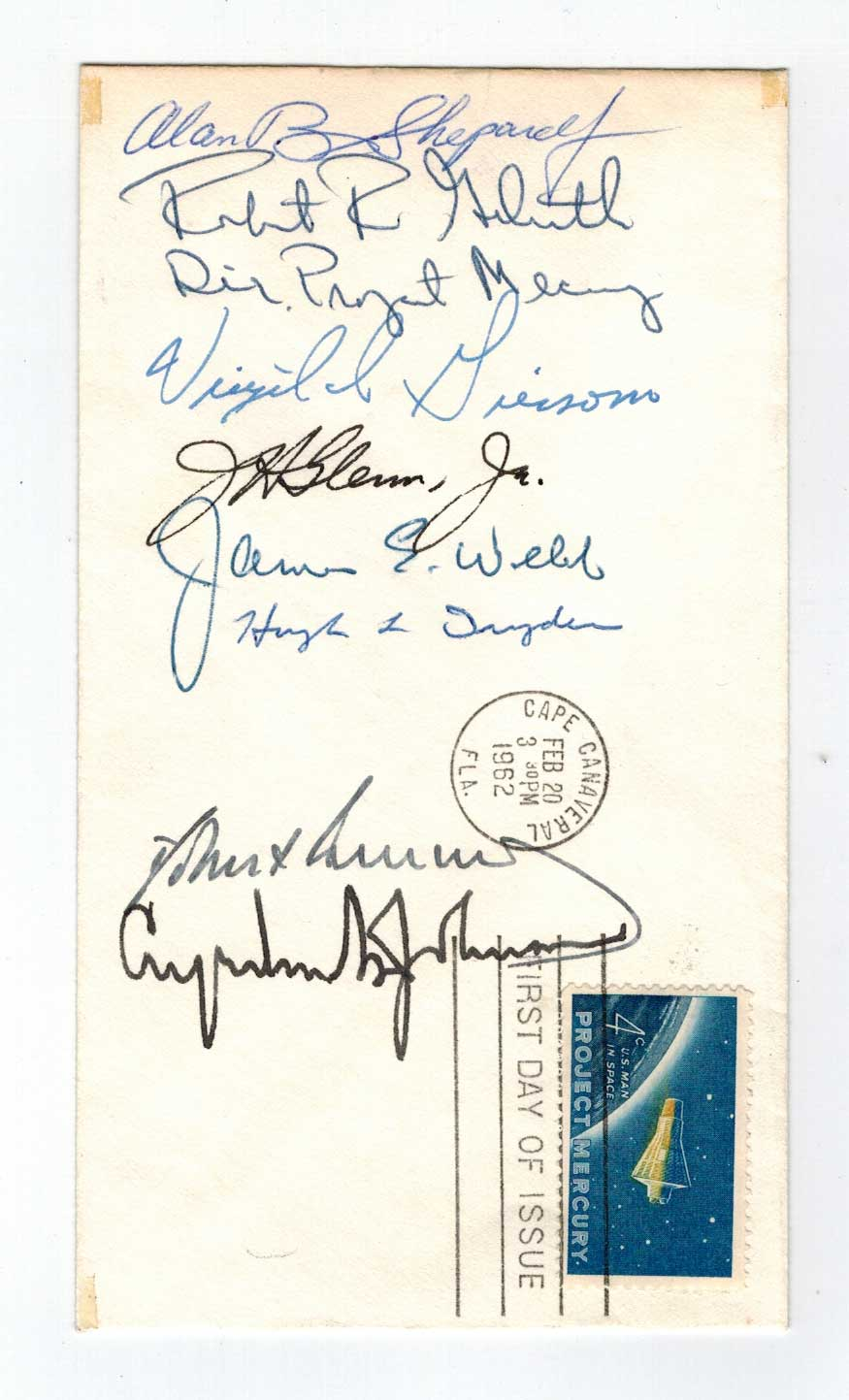 Rare Project Mercury Signed First Day Cover
