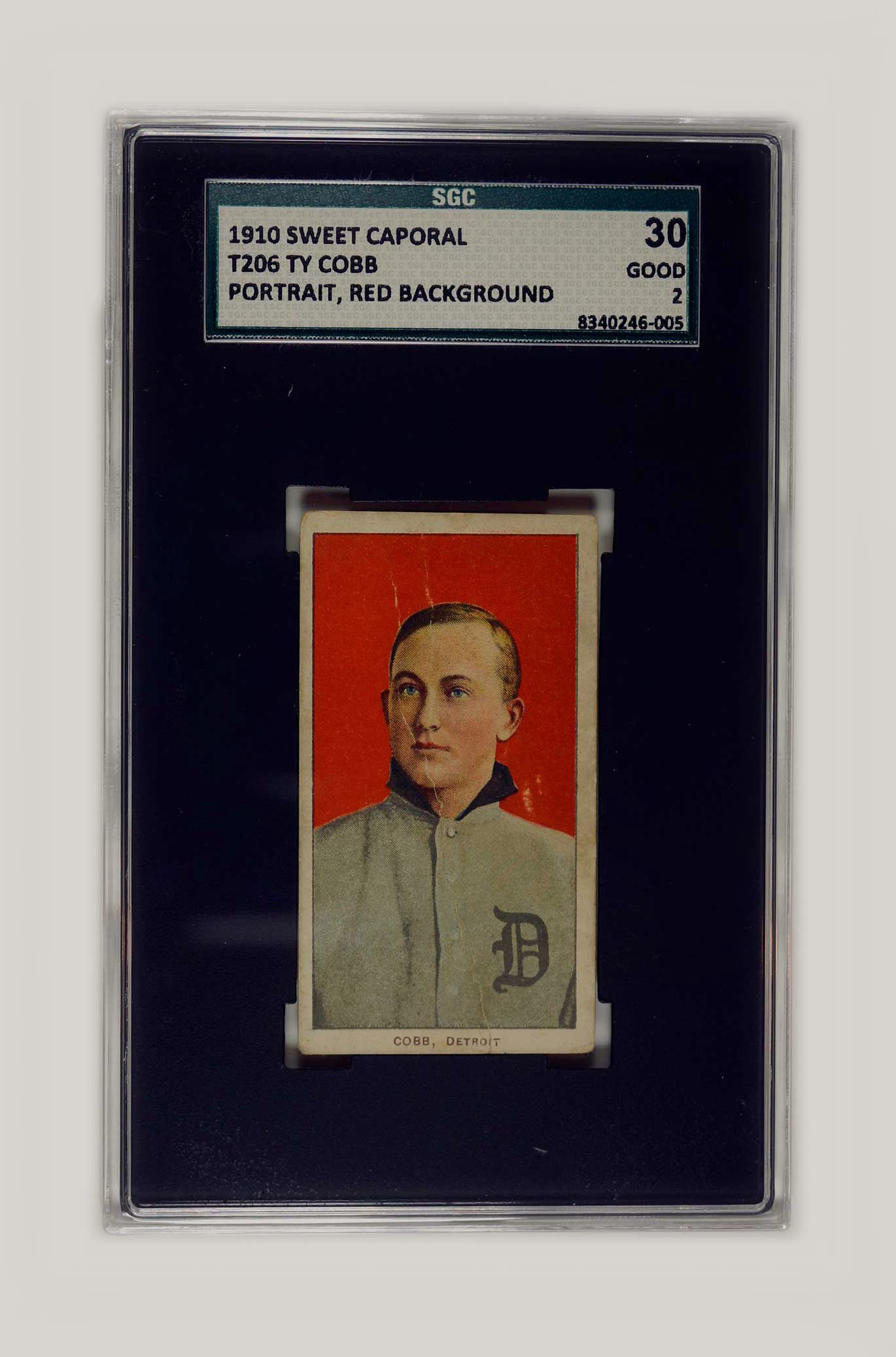 1910 T206 Ty Cobb Sweet Caporal SGC 30