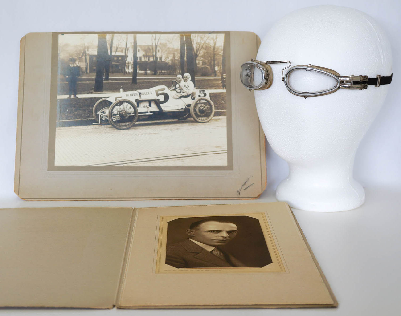 1914 Indy 500 Charles Rogers Race-Used Goggles