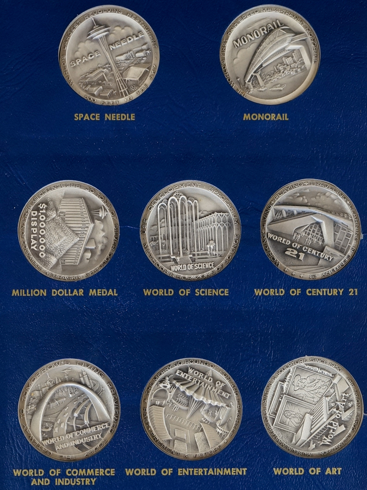 Seattle World's Fair .999 Silver Medals Set