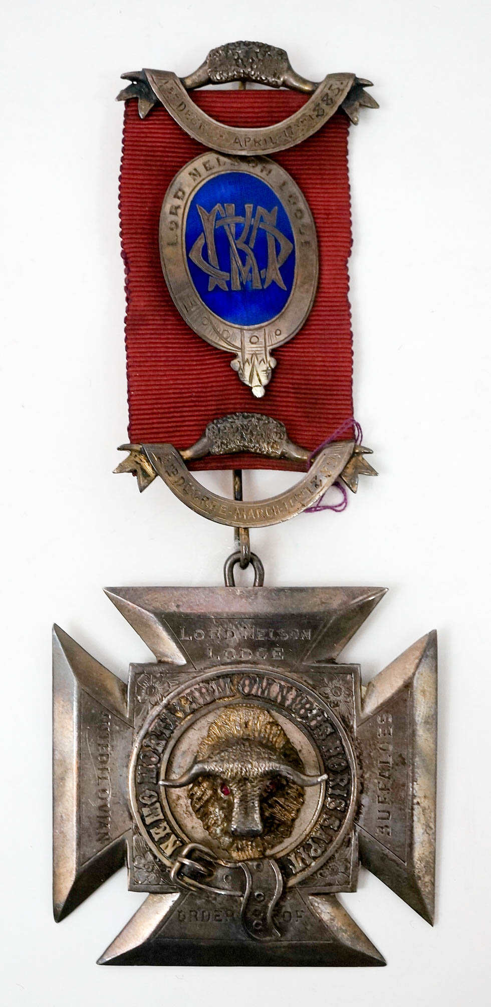 Large Dated 1890 Lord Nelson Lodge Sterling Medal