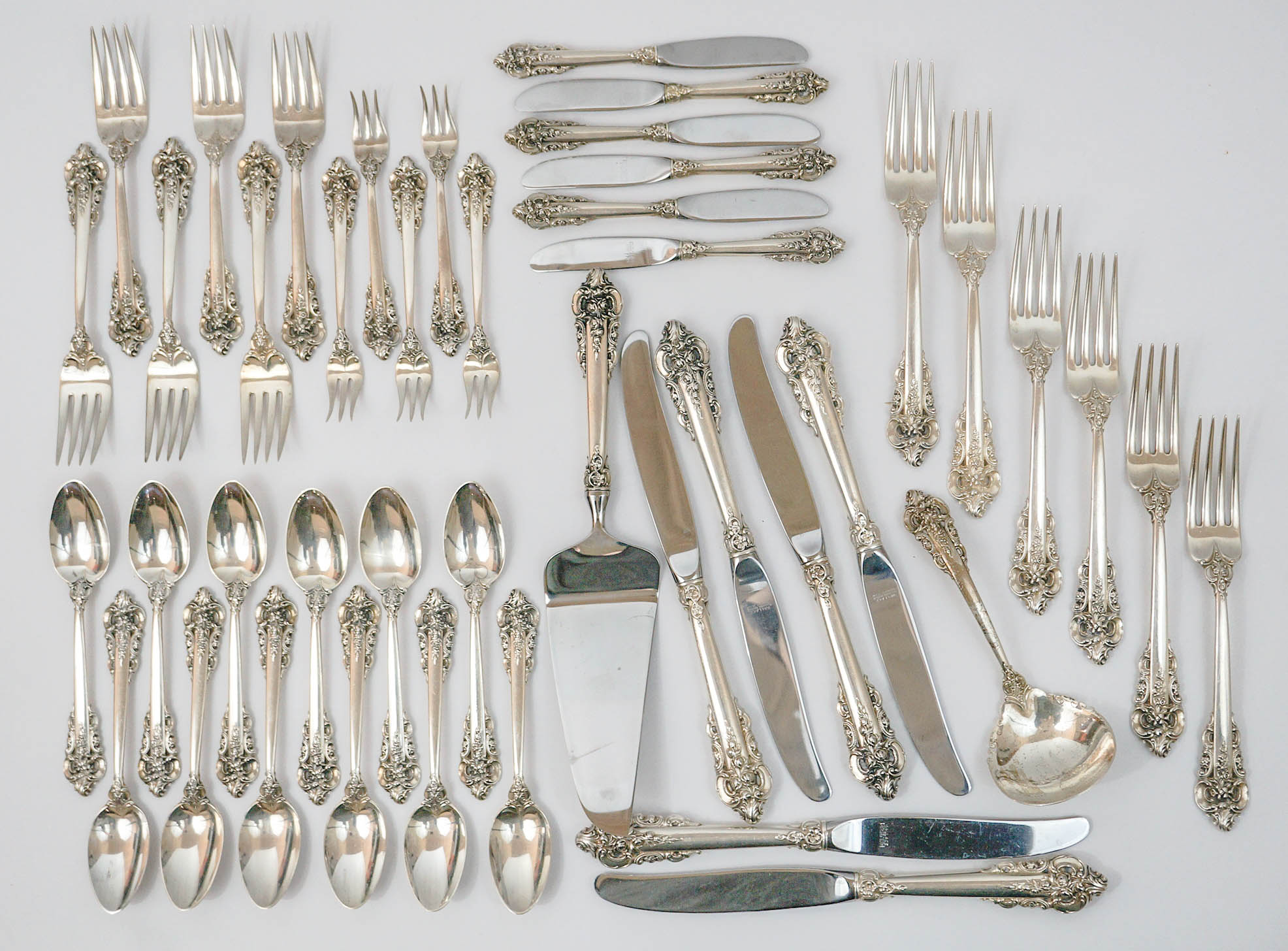 Wallace Grand Baroque Sterling Flatware [42] Pcs.