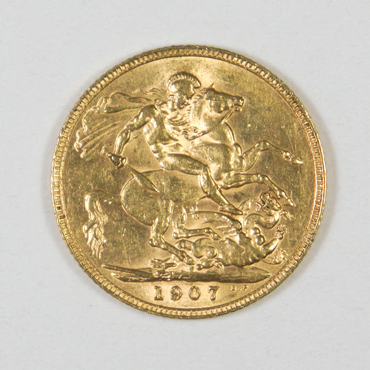 1907 British Gold Sovereign Coin