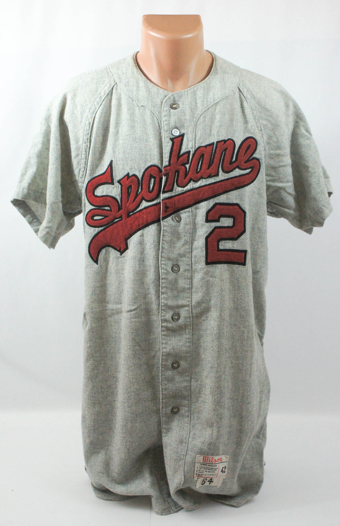1964 Spokane Indians Game Used Jersey Number 2