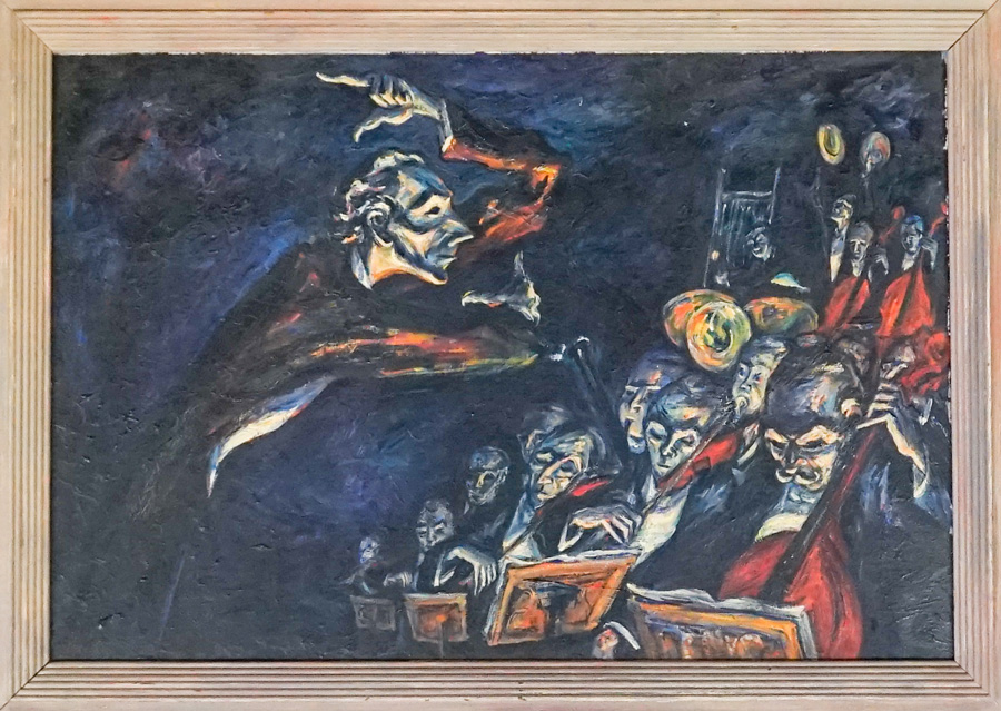 Gz auctions past auctions mervin jules oil on board the conductor sciox Gallery