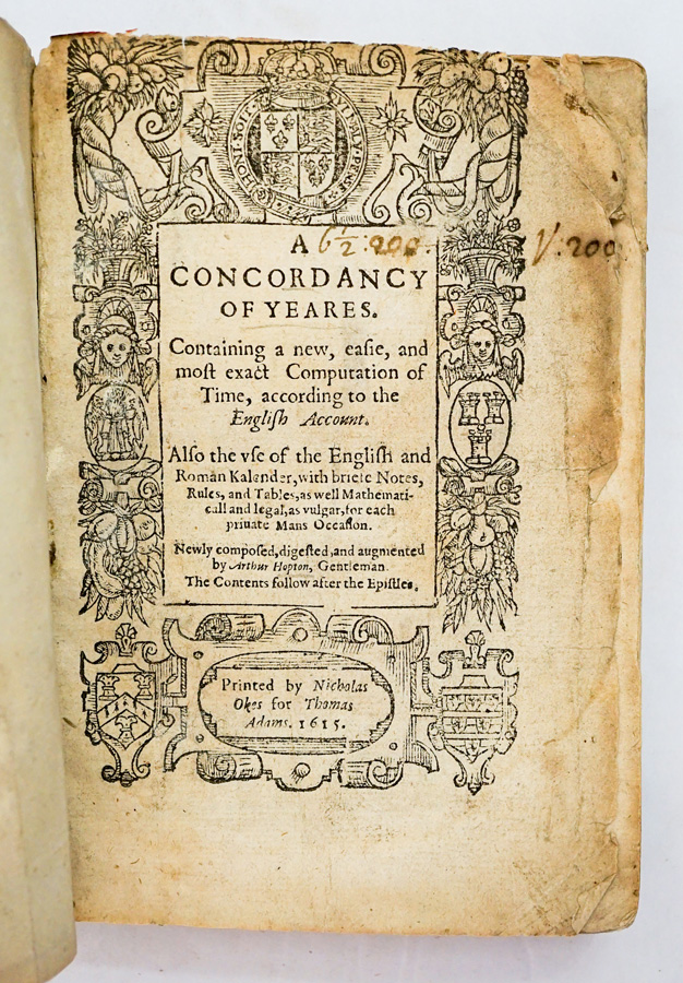 A Concordancy of Yeares 1615