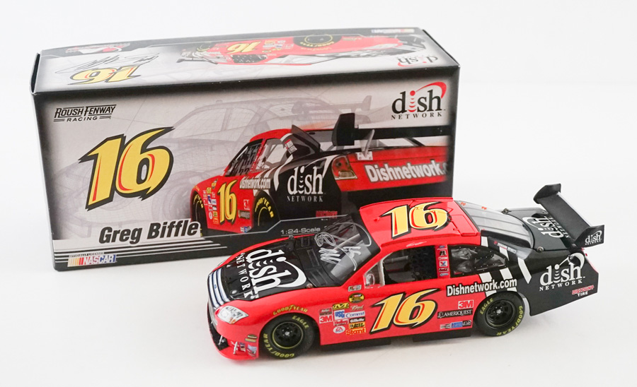 Greg Biffle Signed 1:24 Scale Model Car PSA/DNA