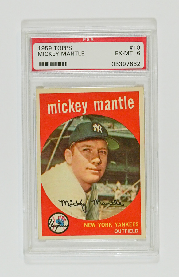 1959 Topps Mickey Mantle #10 PSA 6 EX-MT