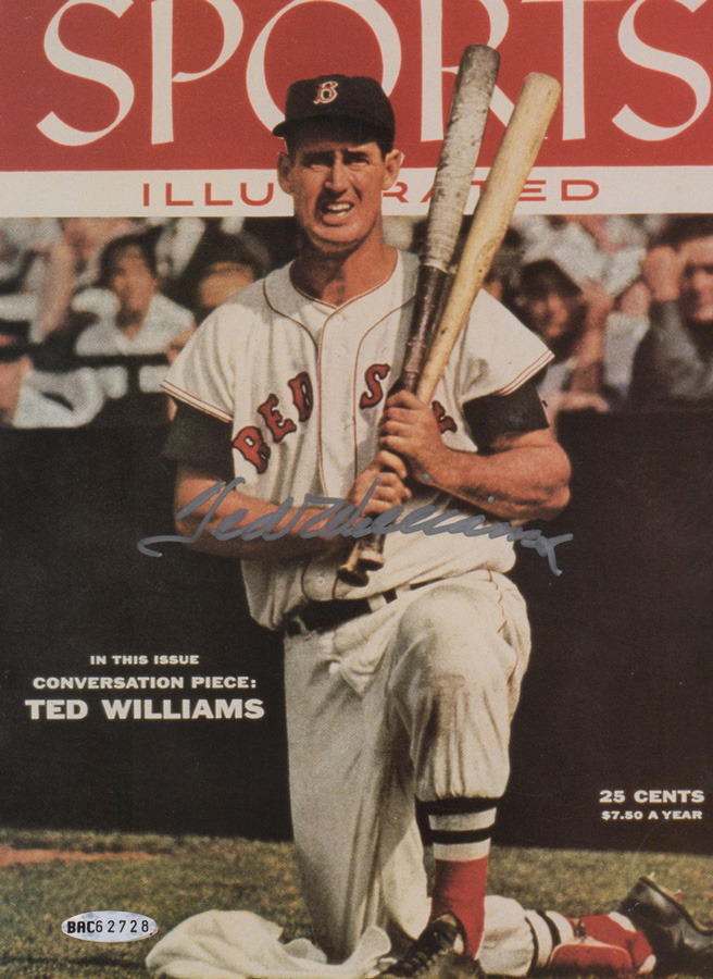 Ted Williams Signed Cover Upper Deck Authenticated