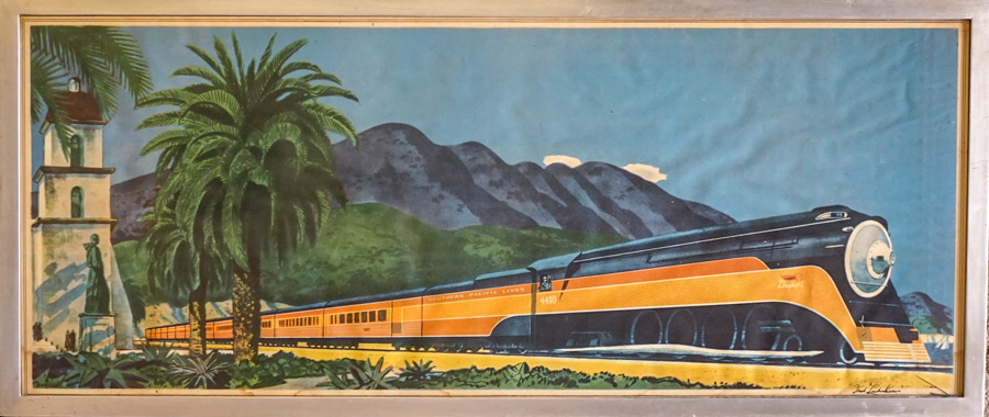 Fred Ludekens Southern Pacific Lines Lithograph