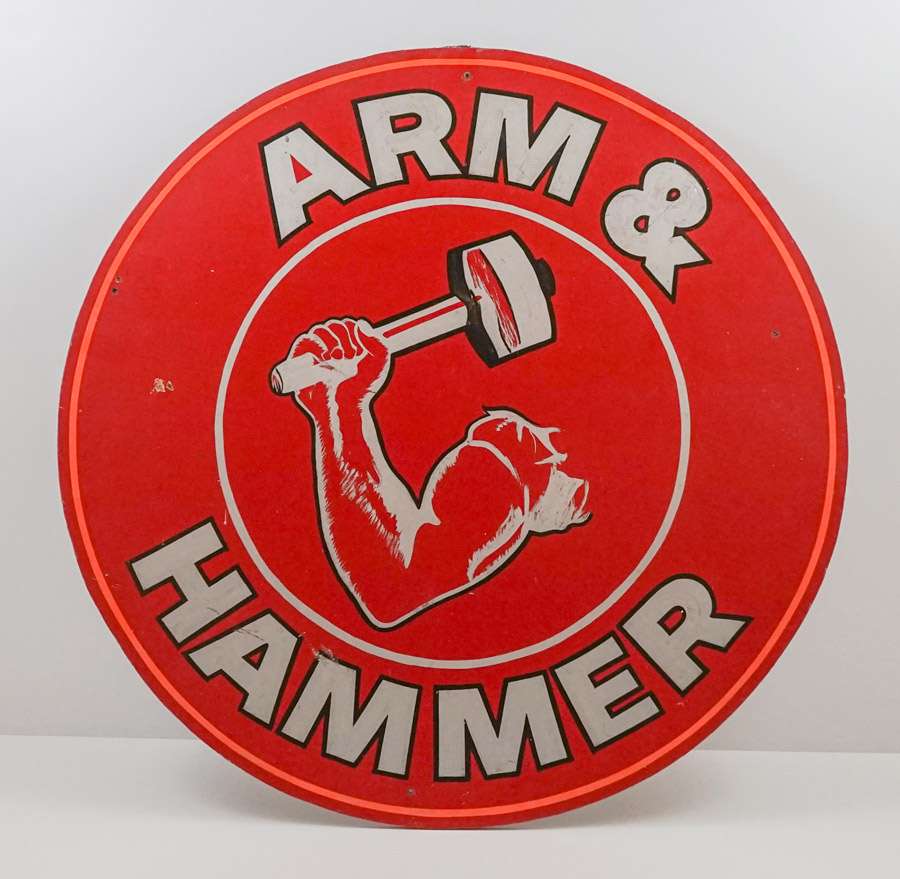 Arm & Hammer Vintage Hand Painted Sign