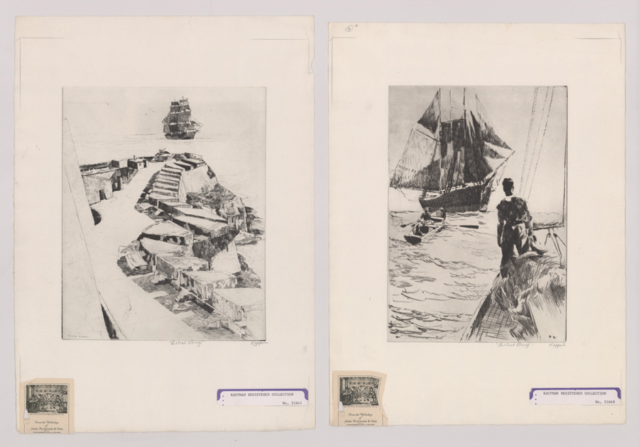 Two Philip Kappel Artist's Proof Etchings