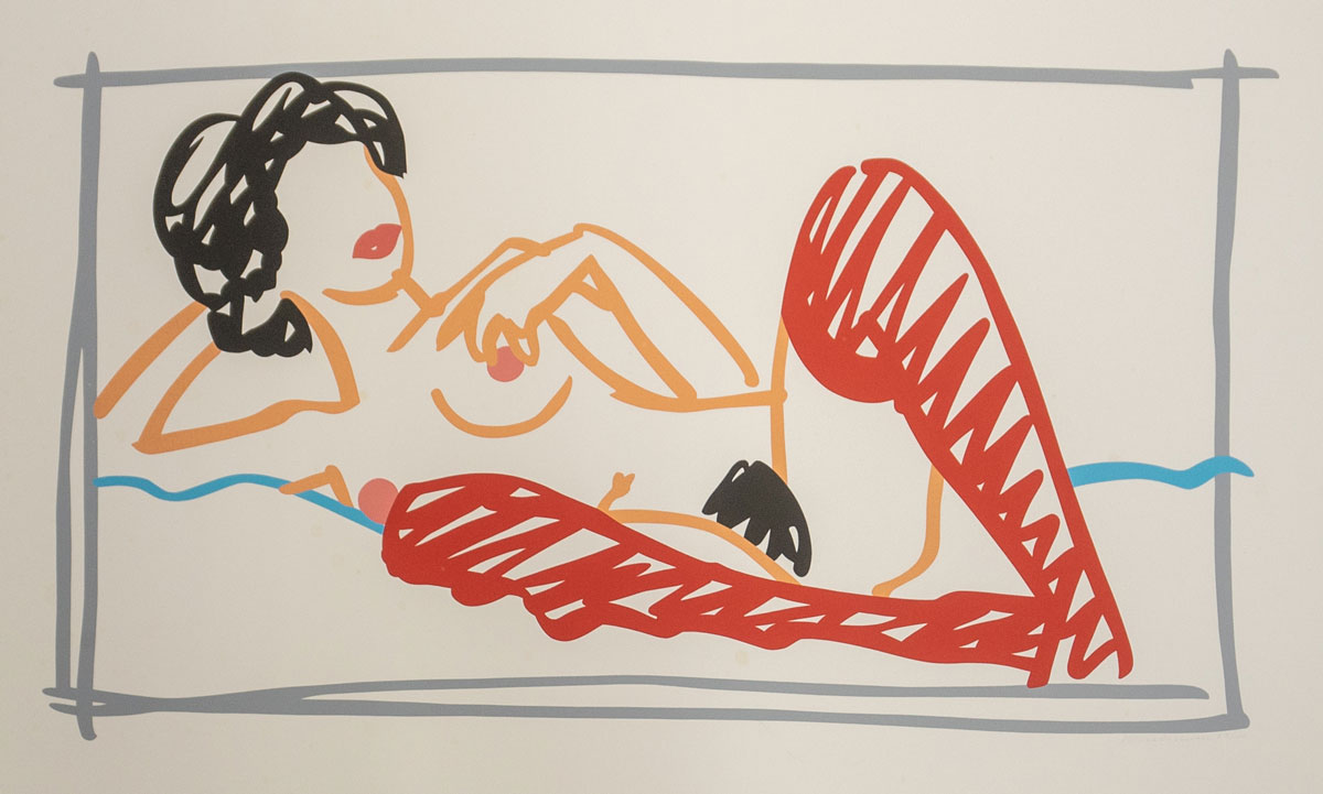 Tom Wesselmann Red Stocking Nude Lithograph