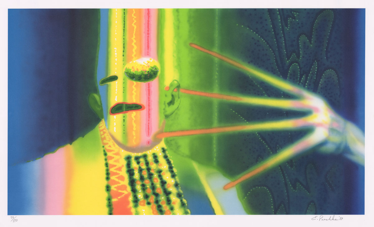 Ed Paschke Original Lithograph in Colors