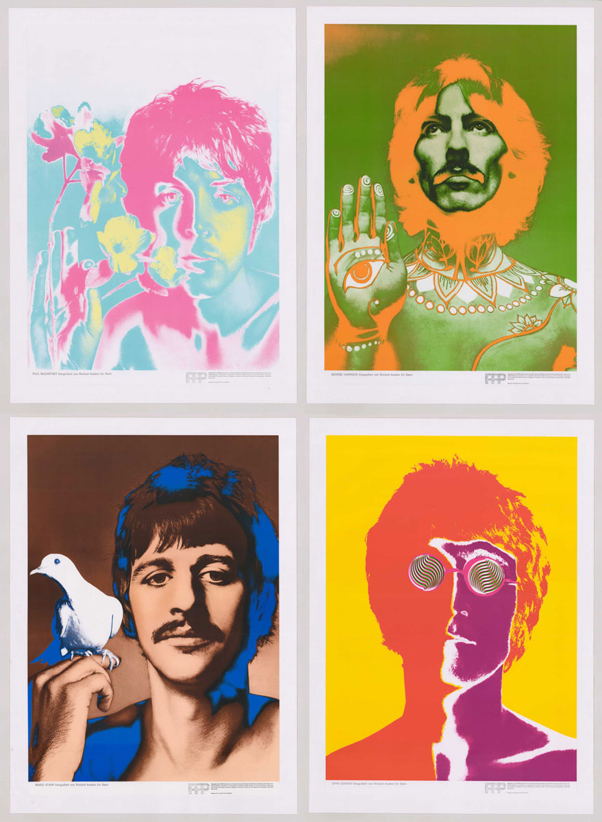 Beatles Set of Posters by Richard Avedon, 1st Ed.