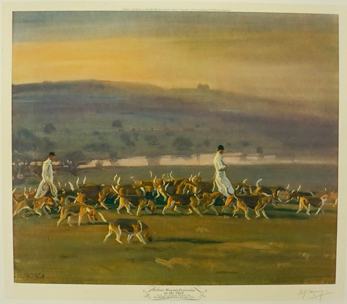 Sir Alfred James Munnings Signed Lithograph