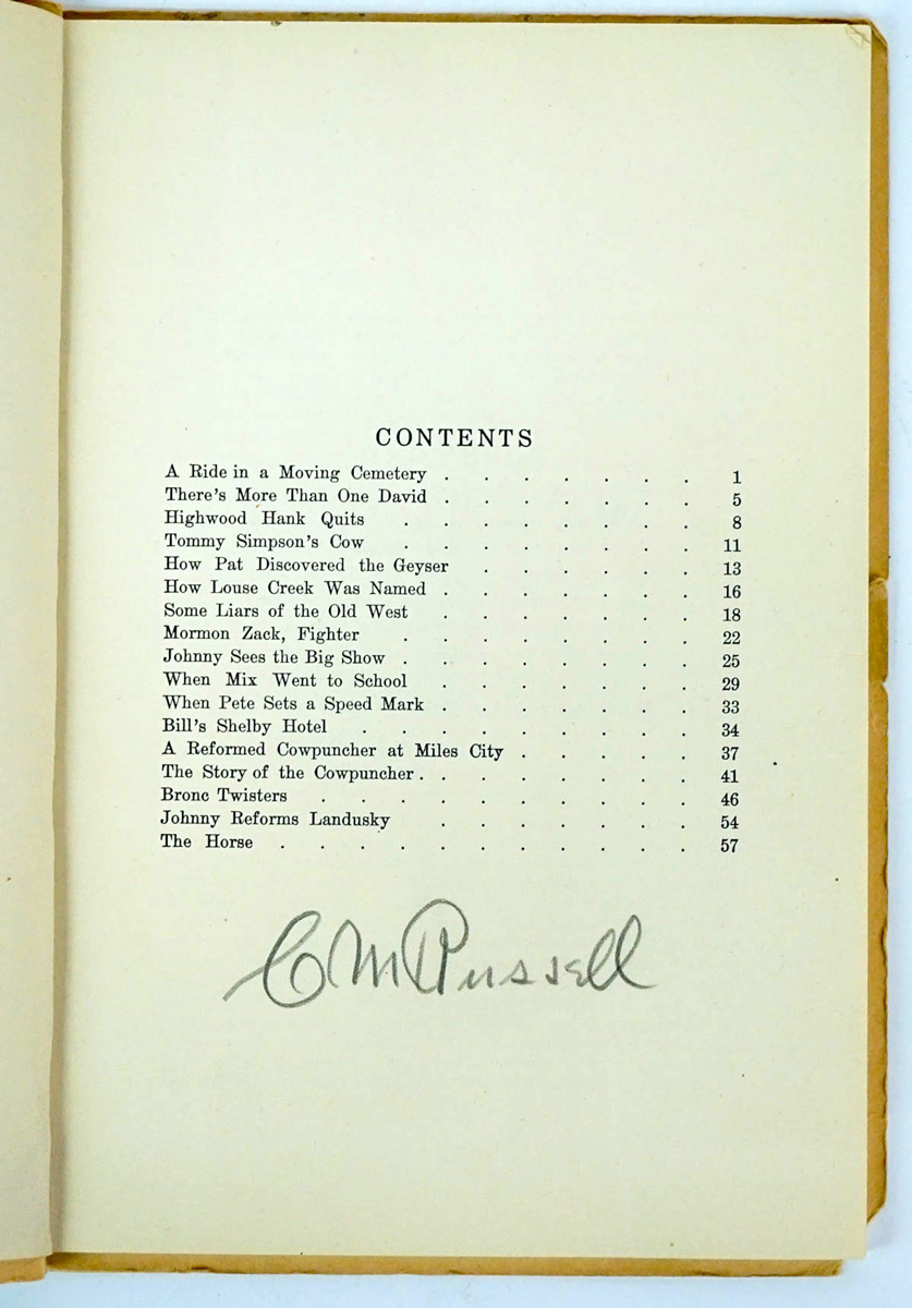 Charles Russell Signed Softcover Book