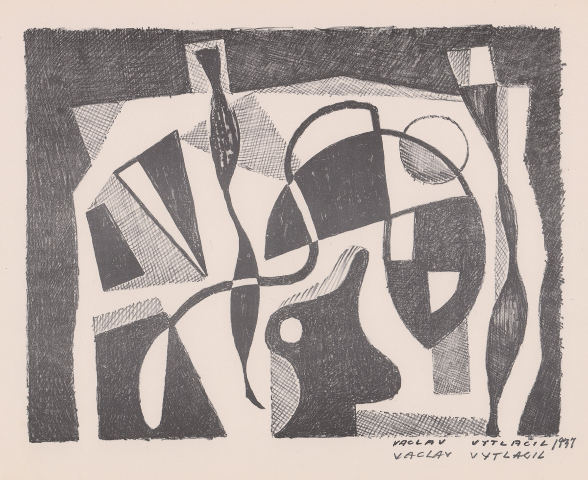Gz Auctions Past Washburn Guitar Wiring Diagram Besides 2 Vaclav Vytacil Signed Lithograph 1937 2nd Of