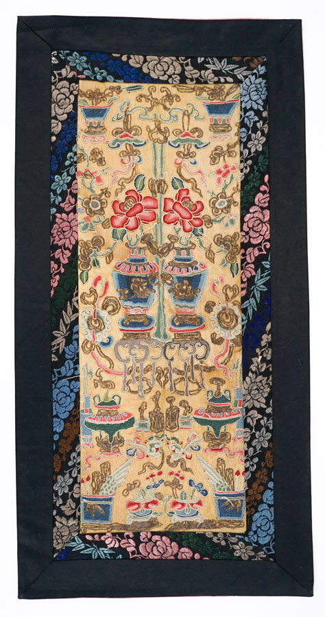 Pair Chinese Forbidden Stitch Sleeve Panels