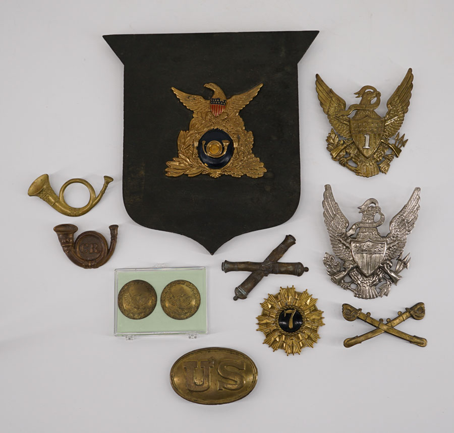 Civil War Era Hat Plates, Buckle and more