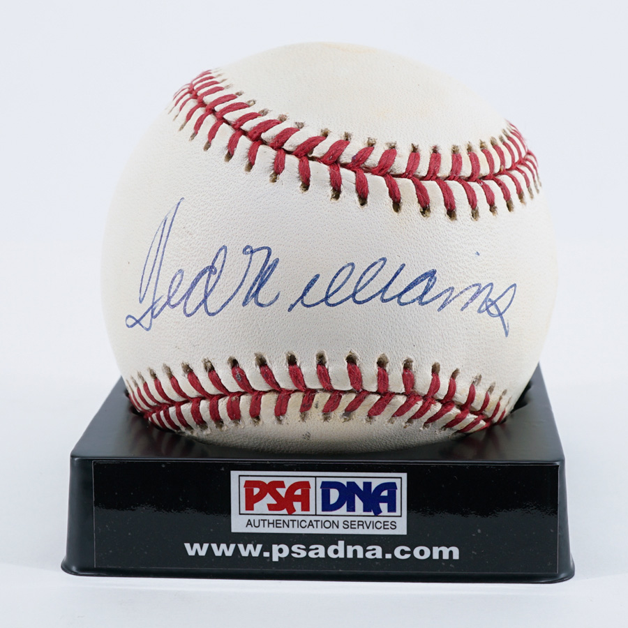 Ted Williams Single Signed Baseball PSA/DNA
