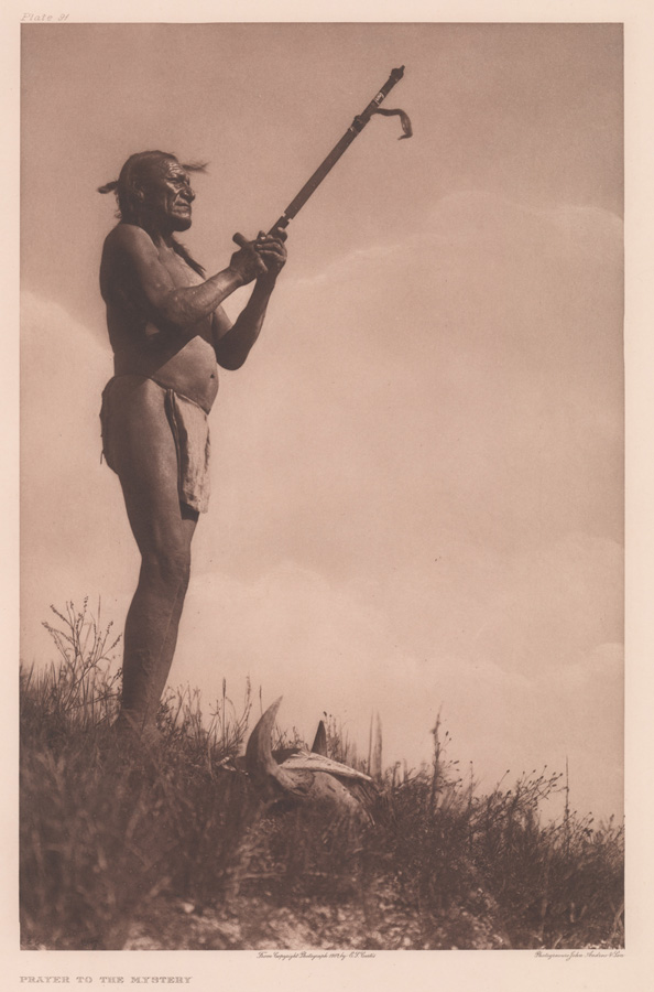 Edward Curtis Photogravure Prayer to the Mystery