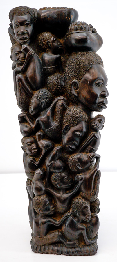 African Carved Family Tree of Life Totem