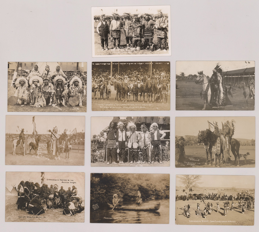 Ten Antique Native American Real Photo Postcards