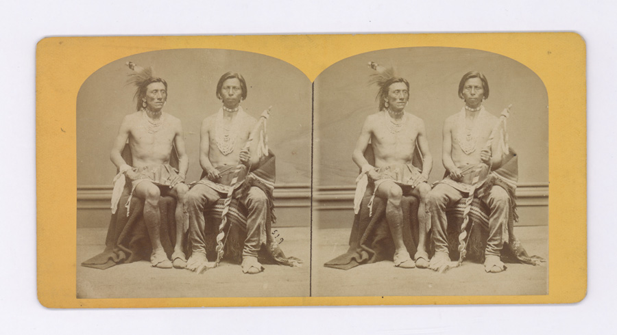 Hamilton and Hoyt Native American Stereoview