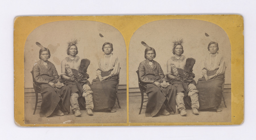 19th Century Native American Stereoview