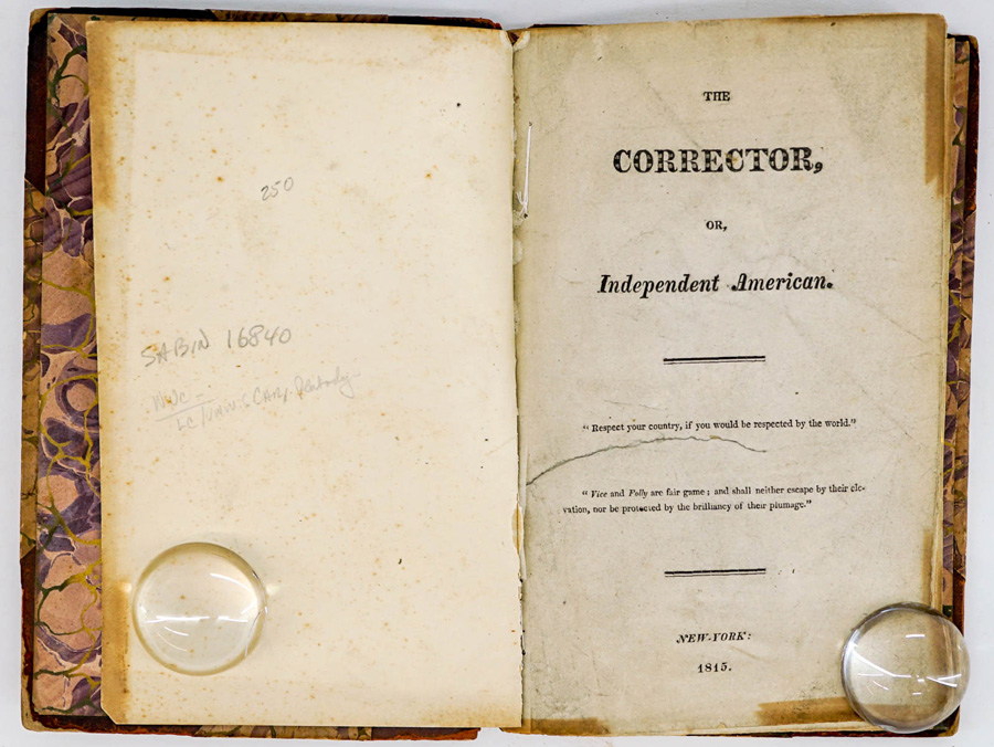 The Corrector or Independent American 1815-16