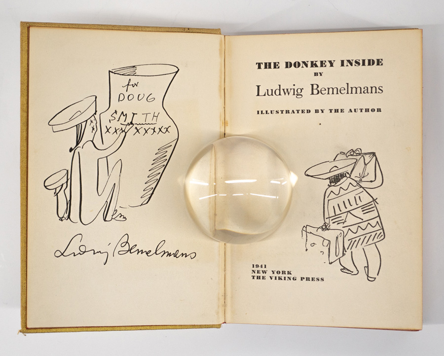 The Donkey Inside by Ludwig Bemelmans 1941 Signed