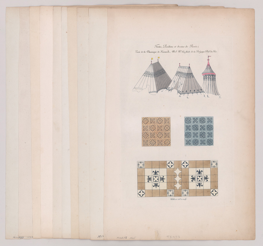 1825 France Engravings Architecture and Design