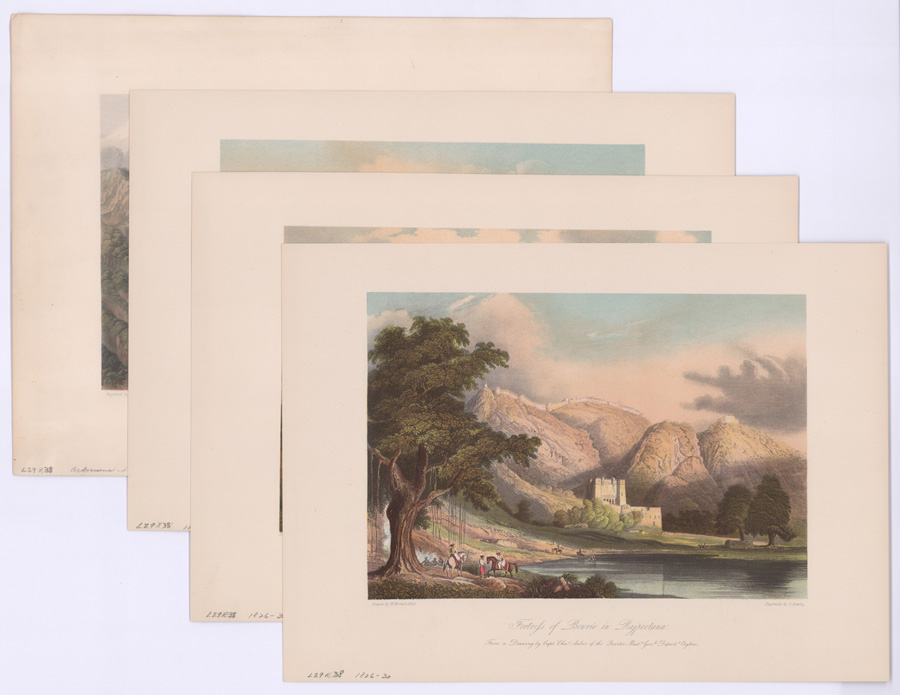 Four Ca.1826-30 Grindlay's Views of India Aquatints