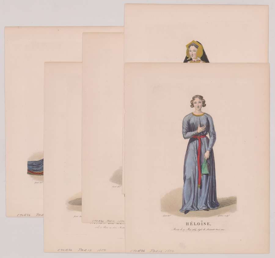 Five Ca.1850 Plates of Renowned French Women