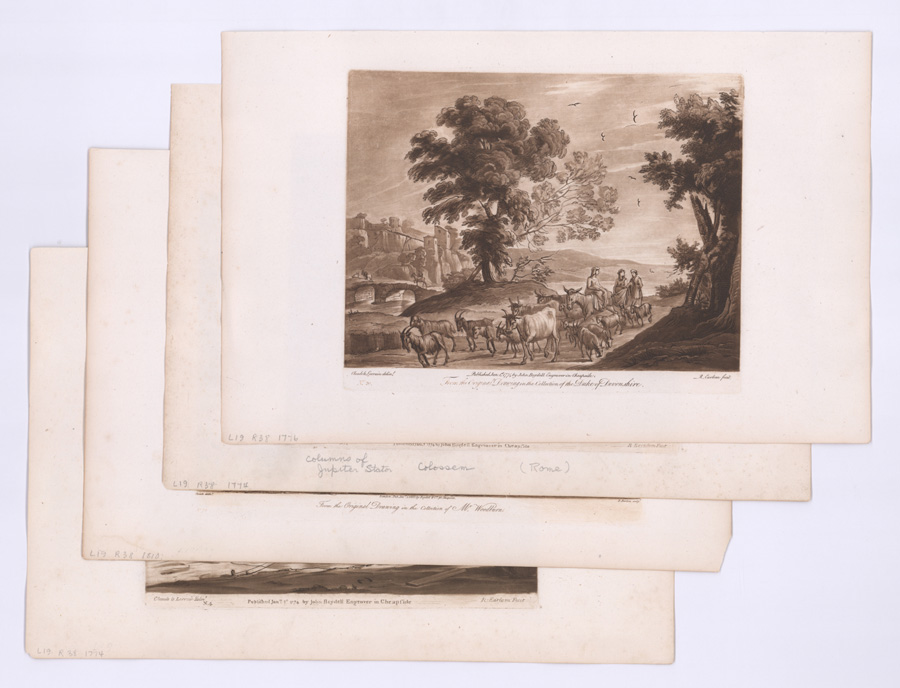 Four After Claude Lorrain (1600 - 1682) Etchings