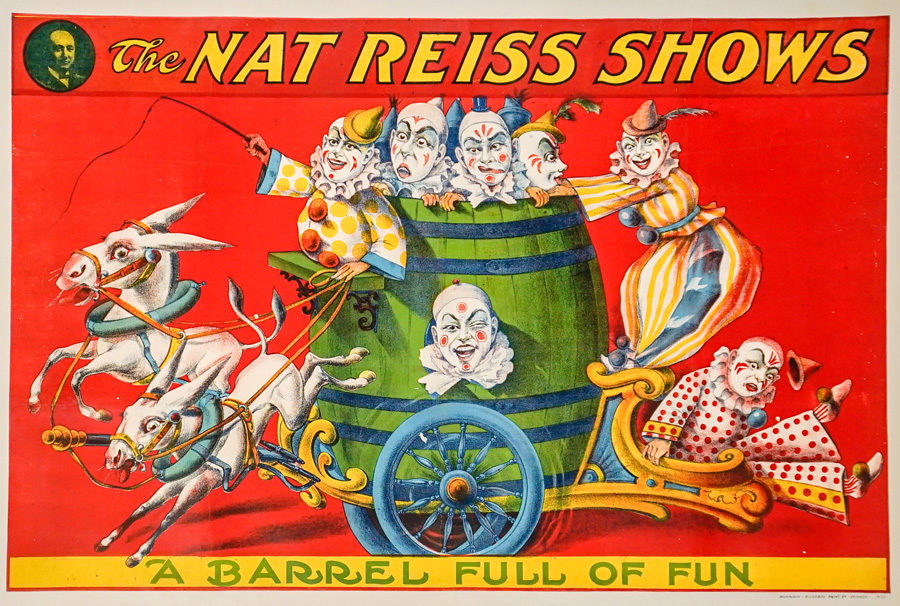 The Nat Reiss Shows Lithograph Poster, 1922