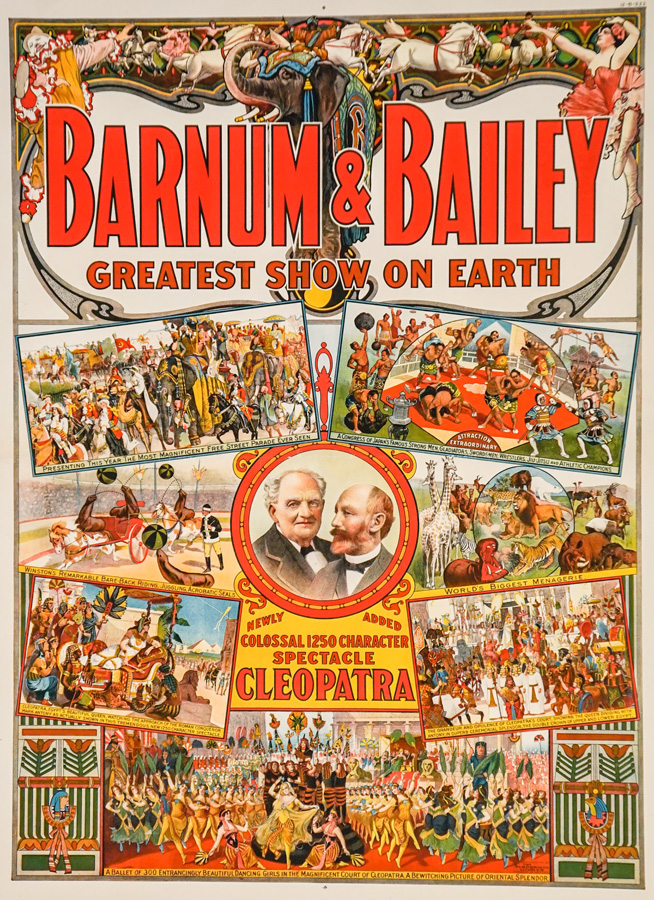 Barnum and Bailey Cleopatra Circus Poster, 1912