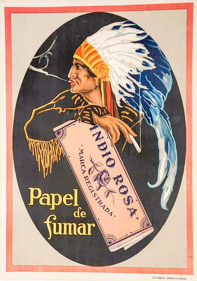 Indio Rosa Rolling Papers Advertising Poster