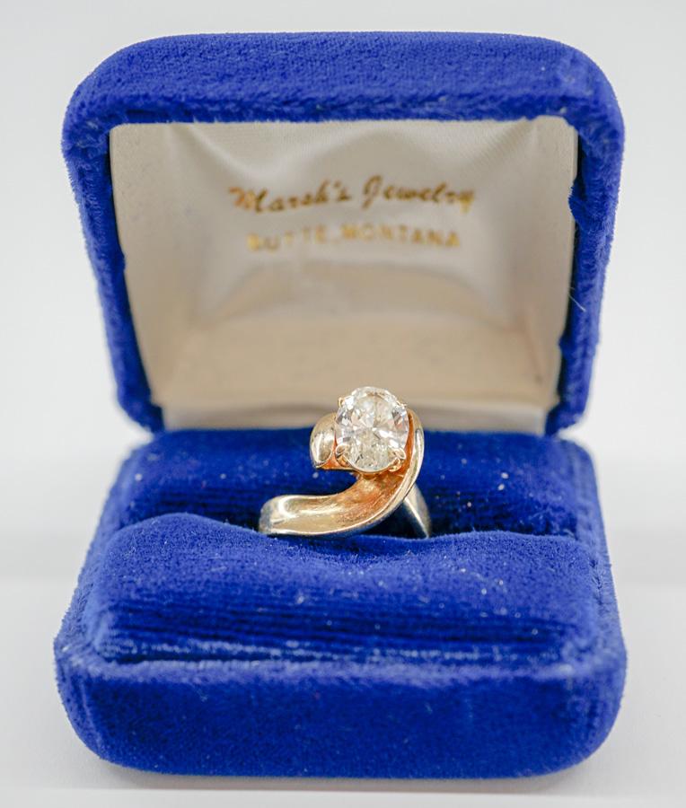 72e539cb244384 Lady's 14K yellow Gold 2.29 Carat, SI-2 Diamond
