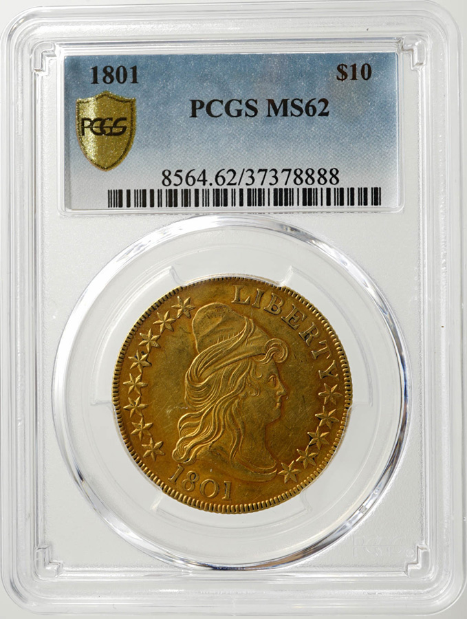 1801 U.S. $10 Gold Coin PCGS MS 62
